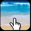 沙滩水波动态壁纸