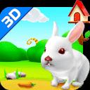 小白兔3D壁纸