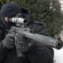 狙擊手射擊沉默的殺手