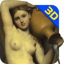 美女油画3D壁纸
