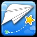 创意纸飞机收星星