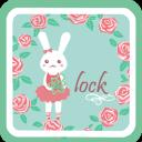 GO锁屏主题-兔兔rose