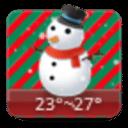 点心天气-圣诞节(手机主题桌面天气软件app)