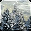 雪花松树动态壁纸