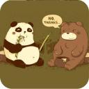 宝软3D主题-痞痞熊猫与呆熊