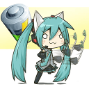 Chibi Vocaloid Battery Widget