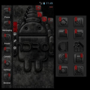 TSFShell主題黑色的Android