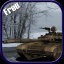 战场上陆军坦克冬季