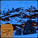 降雪的冬季度假胜地