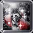 Wolf Love Heart Live Wallpaper