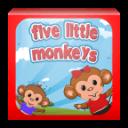 5只猴子在床上跳