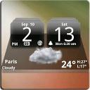 MIUI Dark Digital Weather CL.