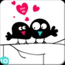 爱情鸟主题(桌面锁屏壁纸)