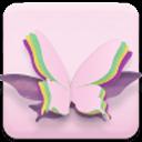 粉紅色的蝴蝶動態壁紙