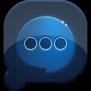 盘丝短信蓝色科技主题