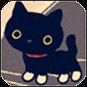 可爱小黑猫