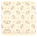 平铺羞涩兔兔-壁纸主题桌面美化