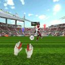 守门员的足球比赛3D