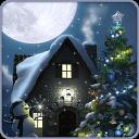 圣诞月圆夜动态壁纸