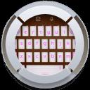 粉红色的笔记本电脑