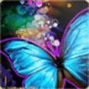 闪闪发光的蝴蝶动态壁纸