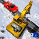 雪救援挖掘机辛