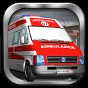 救护车的3D赛车游戏