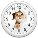 猫咪桌面指针时钟