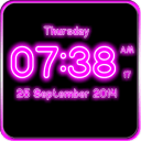 Neon Digital Clock LWP