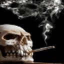 吸烟头骨动态壁纸