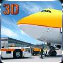 机场飞机地勤人员的3D
