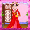 中国公主游戏的女孩