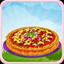 披萨派对游戏的女孩