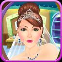 婚礼温泉游戏的女孩