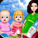 双胞胎婴儿护理游戏