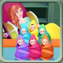 妇女生育婴儿游戏