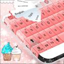 粉红色的键盘蛋糕为GO
