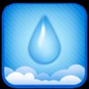 GO锁屏主题-蓝色水滴