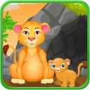 狮子出生游戏的女孩