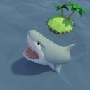 被鲨鱼包围的无人岛