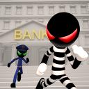 火柴人抢银行