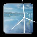 风力发电机动态桌面:Coastal