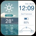 Clock Weather Transparent