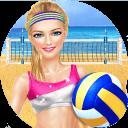 夏季沙滩排球派对 - 运动女生游戏