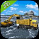 重型挖掘机 - 抗洪抢险