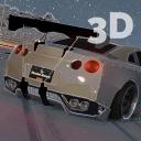 GTR Driving Nissan Winter 3D
