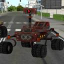 科幻未来机器人车模拟