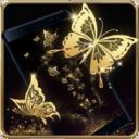 豪華金色蝴蝶動態壁紙