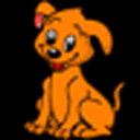 可愛的小狗電池部件