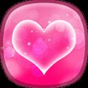 粉红色心中 动态壁纸